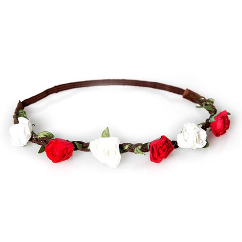 Petra Schuhmacher Haarband Mit 6 Blumen Rot Weiss